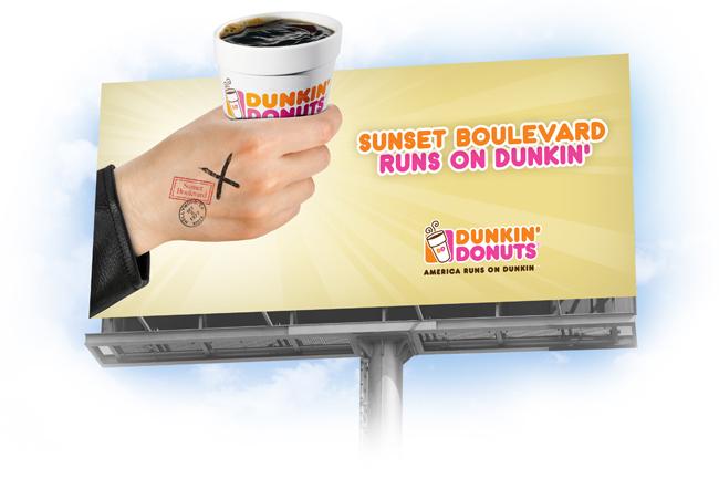Dunkin  Donuts LADunkin Donuts Billboard